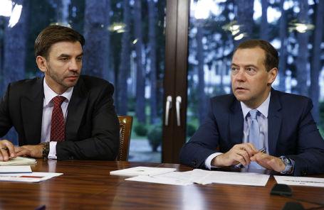 Михаил Абызов и Дмитрий Медведев.