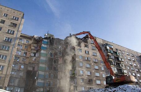 Дом в Магнитогорске, пострадавший от взрыва.