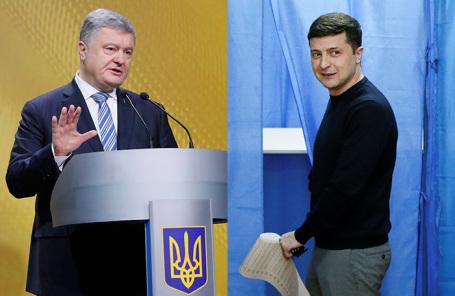 Петр Порошенко. Владимир Зеленский.
