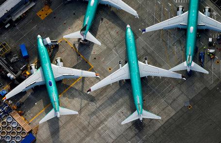 Самолеты Boeing 737 MAX на заводе в Рентоне, Вашингтон, США.