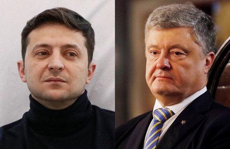Владимир Зеленский и Петр Порошенко.