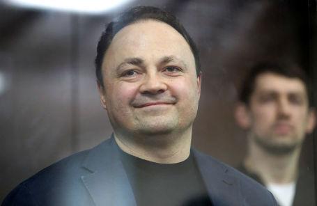 Бывший мэр Владивостока Игорь Пушкарев во время оглашения приговора в Тверском суде.