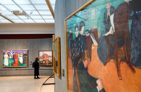 Выставка художника Эдварда Мунка в Третьяковской галерее.