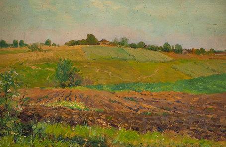 И. И. Левитан «Летний пейзаж. Пашня»