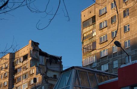 Жилой дом в Магнитогорске, где произошло обрушение.