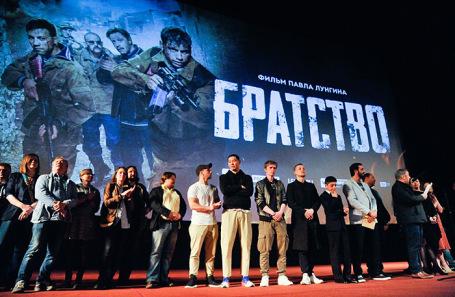 Съемочная группа на премьере фильма режиссера Павла Лунгина «Братство».