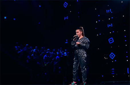 Микелла Абрамова на шоу «Голос. Дети».