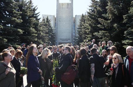 На церемонии прощания с Сергеем Доренко.