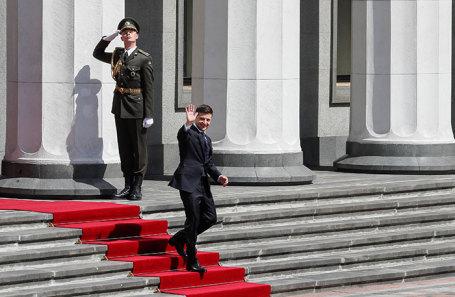 Владимир Зеленский после церемонии инаугурации.
