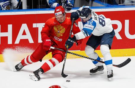 Матч 1/2 финала чемпионата мира по хоккею — 2019: Россия — Финляндия.