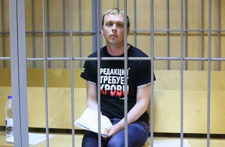 Иван Голунов в Никулинском суде Москвы.