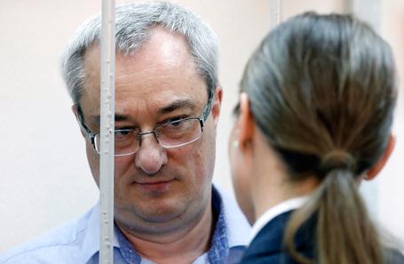 Вячеслав Гайзер во время оглашения приговора в Замоскворецком суде.