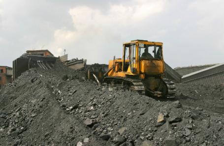 Угольная шахта в Киселевске.