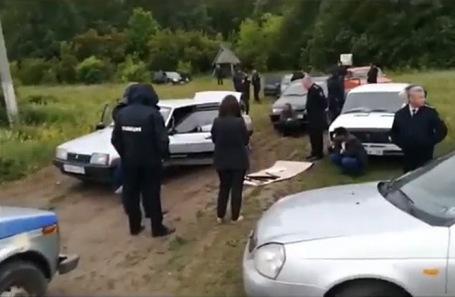 Работа следственной группы в селе Чемодановка.