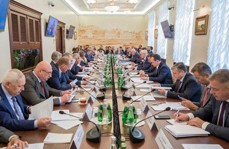 Заседание Бюро Правления Российского союза промышленников и предпринимателей.