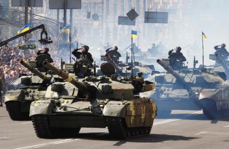 Военный парад в Киеве в День независимости Украины. 2018 год.
