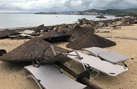 Последствия урагана. Халкидики, Греция.