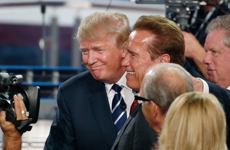 Дональд Трамп и Арнольд Шварценеггер (в центре).