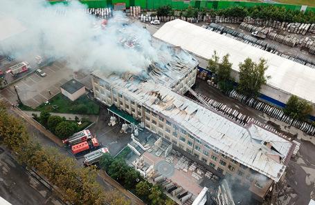Последствия пожара на газовой станции.