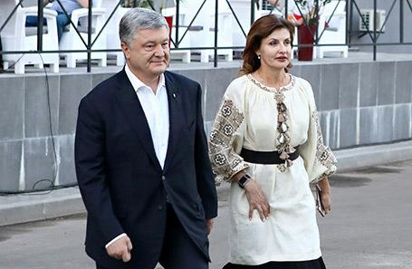 Петр Порошенко с супругой Мариной.