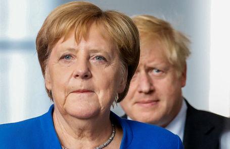 Канцлер Германии Ангела Меркель и премьер-министр Великобритании Борис Джонсон.