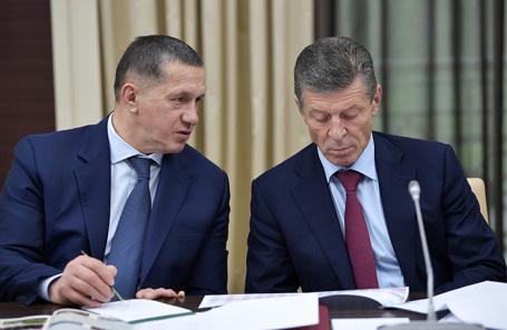 Юрий Трутнев и Дмитрий Козак (слева направо).