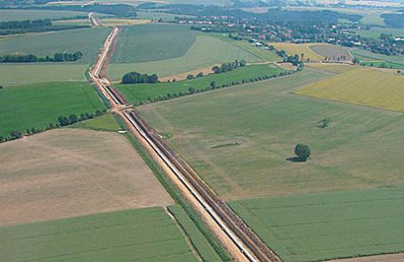 Трубопровод Opal на территории Германии.