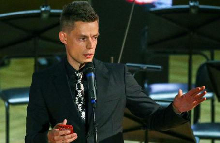 Блогер Юрий Дудь на церемонии вручения премии «Человек года — 2019» по версии журнала GQ.