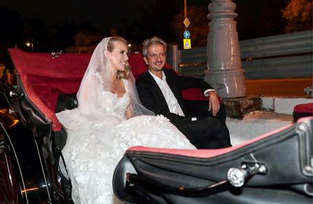 Свадьба Ксении Собчак и Константина Богомолова в Москве.
