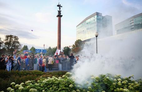 Акция в поддержку независимых кандидатов в депутаты Мосгордумы.