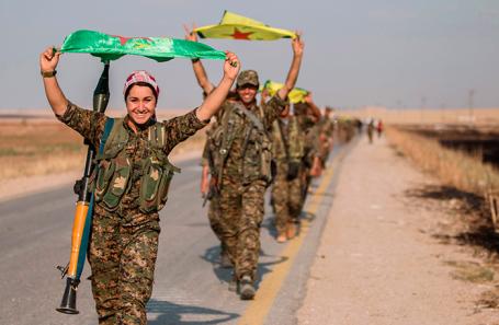 Вооруженное формирование сирийских курдов. (Архивное фото.)