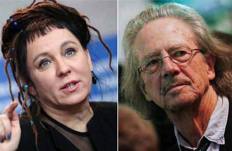 Ольга Токарчук и Петер Хандке.