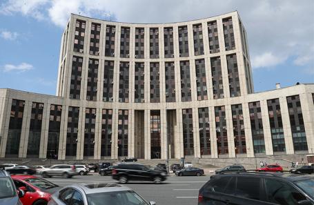 Здание Внешэкономбанка в Москве.