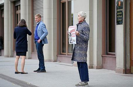 Одиночные пикеты у здания АП РФ в Москве.