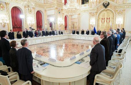Заседание Совета при президенте РФ по развитию гражданского общества и правам человека в Кремле.