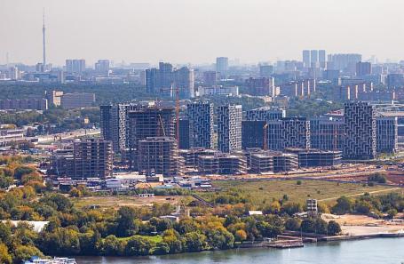 Москва. Вид на район Покровское-Стрешнево.