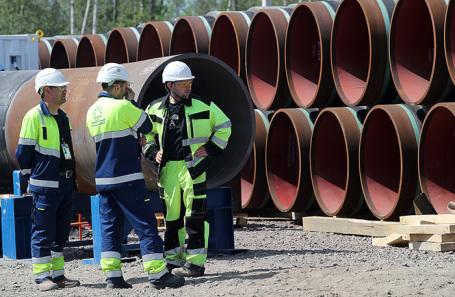 Строительство газопровода «Северный поток — 2».