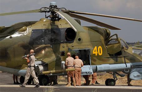 Российские вертолеты на авиабазе в Сирии. Архивное фото.