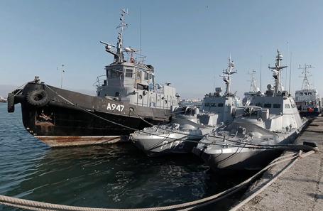 Передача Украине задержанных в Керченском проливе кораблей. Ноябрь 2019 года.