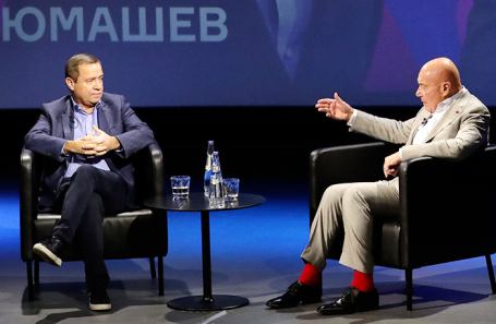 Валентин Юмашев (слева) и Владимир Познер.