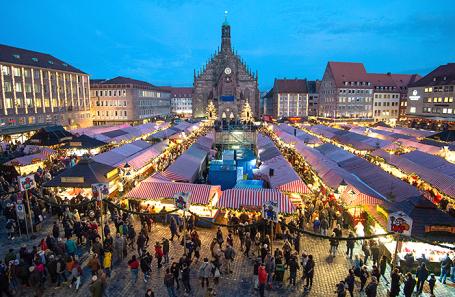 Рождественская ярмарка в Нюрнберге.