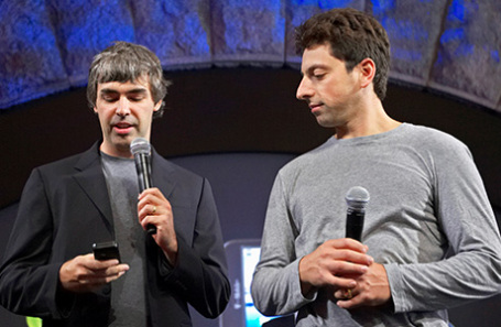 Ларри Пейдж и Сергей Брин (слева направо).