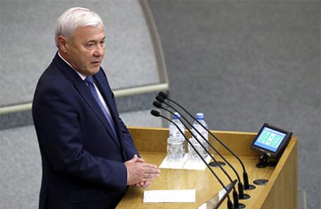 Анатолий Аксаков на пленарном заседании Государственной думы РФ.