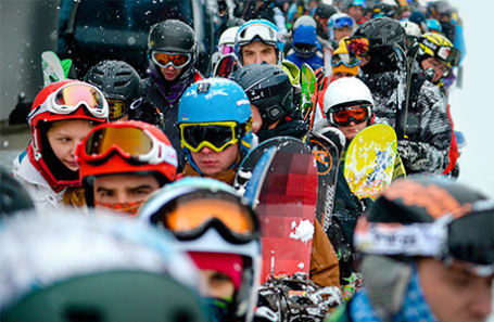 Открытие сезона на горнолыжном комплексе «Роза Хутор».