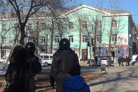 Колледж в Благовещенске, где студент устроил стрельбу.