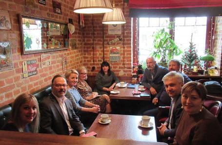 Бизнес-завтрак с участием делегации Университета Буффало и членами совета Рязанского регионального отделения «Деловой России».