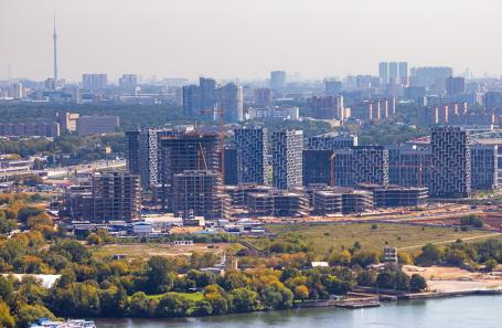 Вид на район Покровское-Стрешнево. Август 2019 года.