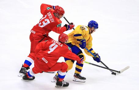 Полуфинал молодежного чемпионата мира по хоккею Швеция — Россия в Остраве, Чехия.