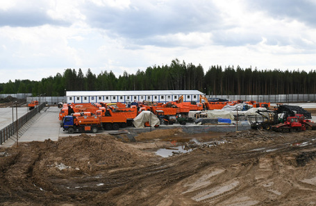 Место строительства полигона для утилизации твердых бытовых отходов «Шиес». Июнь, 2019 года.