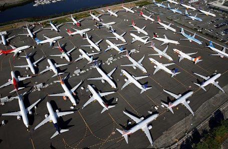 Самолеты Boeing 737 MAX. Сиэтл, США.